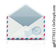 Air-Mail-Stamp - Airmail Post Envelope
