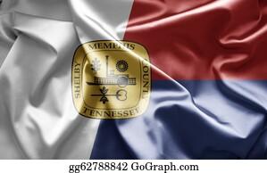 Memphis - Flag Of Memphis, Tennessee