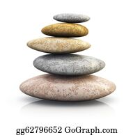 Therapy - Pile Of Pebbles For Spa Therapy