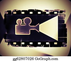 Movie-Production - Old Film Strip Frame And Movie
