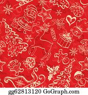 Reindeer-Christmas-Silhouettes - Christmas Seamless Background