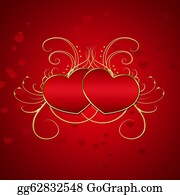 Golden-Love-Hearts - Elegant Red Hearts