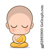 Buddhist - Buddhist Monk Cartoon