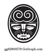 Tiki-God -  Illustration Of Maori Style Symbol