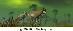 Prairie - Hunting Scene In The Nature
