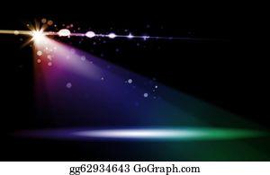 Dance-Of-Lights-In-The-Dark - Stage Lights. Illustration.