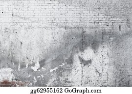 Wall-Background - Cracked Concrete Old Brick Wall Background