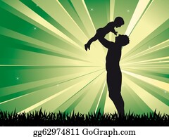 Babies-And-Toddlers-Silhouettes - Dad And Son
