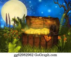 Treasure - Magical  Chest Of Treasure