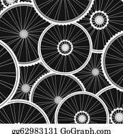 Black-White-Mode - Bicycle Wheels Pattern - Sports Background
