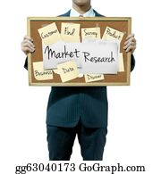 Conduction - Business Man Holding Board On The Background, Market Research