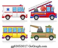 Tow-Truck - Car Icon Set Illustration