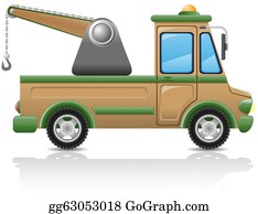 Tow-Truck - Car Tow Illustration