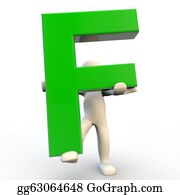 Letter-F - 3d Human Character