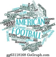 Football-Abstract - Word Cloud For American Football