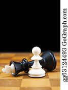 Pawn - White Pawn Wins The Black King