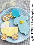 Birthday-Suit - Baby Shower Cookies