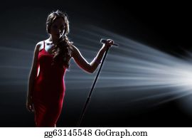 Singer - Female Singer On The Stage