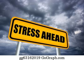 Frustrated - Stress Ahead Sign