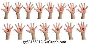 Number-One-Finger - Children's Hands With Numbers