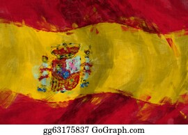 Football-Abstract - Flag Of Spain Abstract Painting Background