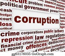 Government-And-Economy - Corruption Political Poster