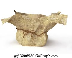 Flower-Pot - Decorative Sack Flower Pot