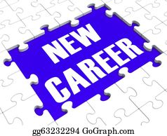 Employment - New Career Puzzle Showing Future Employment