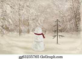 Christmas-Gold - Snowman With Christmas Star