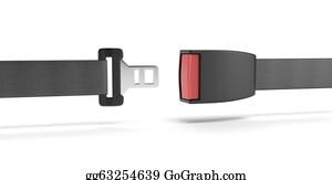 Seat-Belt - Opened Seat Belt.