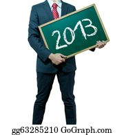 2013-Happy-New-Year-Happy-New-Year - Business Man Holding Board On The Background, Happy New Year 2013