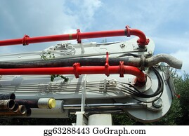Concrete-Pump-Truck - The Tubes Of A Pump Truck