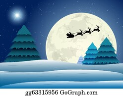 Christmas-Santa-Sleigh-And-Reindeer - Santa Claus Into The Winter