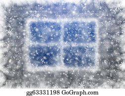 Falling-Snow-Background - Snow-Covered Window