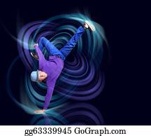 Dance-Of-Lights-In-The-Dark - Modern Style Dancer