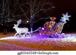 Reindeer-Christmas-Silhouettes - Christmas  Illuminated
