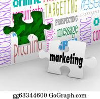 Strategy - Marketing Wall Puzzle Piece Market Plan Strategy