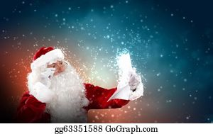 Beards - Santa With Christmas Letter