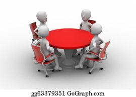 Conference - 3d Person At A Conference Table