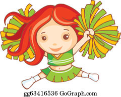 Cheerleader - Red Haired Cheer Leader