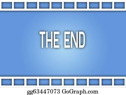 Movie-Production - The Word The End On Film Strip Background