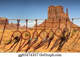 Dream-Catcher -  Dream Catcher Aginst The Background Of Monument Valley, Utah, Usa
