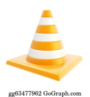 Roadworks - Roadworks Orange Glossy Cone Isolated