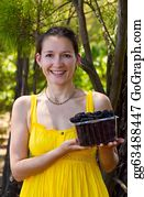 Boysenberry - Smiling Girl With Boysenberries