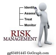 Management - 3d Man Writing Risk Management