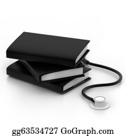 Medical-Textbook - Books And Stethoscope