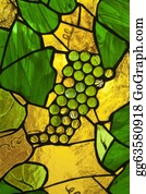 Grape-Leaf - Stained Glass Door