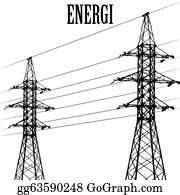 Power-Transmission-Line - High Voltage Power Pole Line Vector