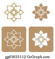 Buddhist - Line Thai Art Pattern Illustration.