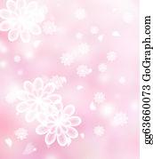 Chrysanthemum - Blossoms Pastel Pink Illustration